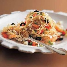 Shrimp and Feta with Angel Hair Recipe | MyRecipes.com