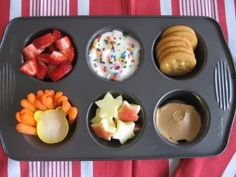 We are all about creating fun lunches for kids in a muffin tin. We call it the Muffin tin Meal. Simple and fun for kids and parents.