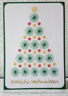 Weihnachtskarten - Fadengrafik Grußkarten Set 253 Weihnachten - ein Designerstück von Bastelfan1809 bei DaWanda