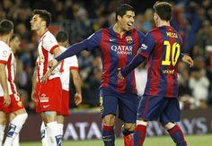 Barcelona 4-0 Almeria: Messi and Suarez brilliance seals three points