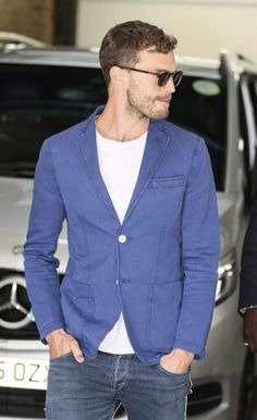Jamie Dornan seen leaving ITV Studios, London 8-30-2016