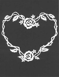 paper cut - would make a great wedding gift or first communion..