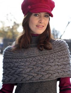 Shoulder Shrug - Patterns | Yarnspirations - Definitely making this. Cables and a tiny feminine look. Love it.