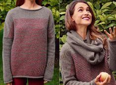 Пуловер с ложным жаккардом и снуд (ж) 22 и 23*177 Bergere de France №4523
