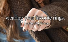 wearing your fave rings