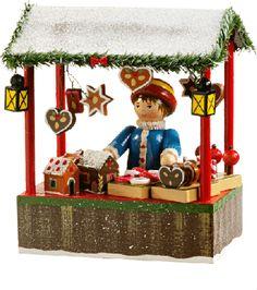 """Rothenburger Weihnachtswerkstatt """"Weihnachtsmarktstand mit Lebkuchenverkäuferin"""""""