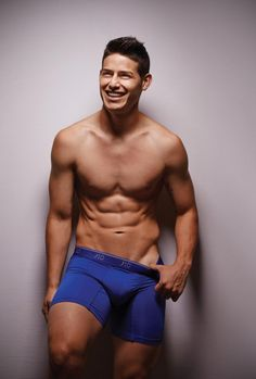 Why, hello there! Showing off his chiseled abs, soccer star James Rodriguez debuted his new underwear line 'J10 brand' in this sexy ad, following in the footsteps of David Beckham and Cristiano Ronaldo.