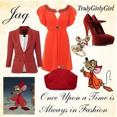 Jaq outfit - by trulygirlygirl Disney Character Outfits, Disney Princess Outfits, Disney Themed Outfits, Disney Inspired Fashion, Character Inspired Outfits, Disney Dresses, Disney Clothes, Disney Fashion, Film Fashion