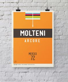 paperpleasures: Can't resist one more Tour de France post today featuring some of the most memorable riders and jerseys from the past century re-imagined as posters.    http://www.behance.net/gallery/Iconic-Cycling-Jerseys/6713523