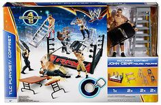 Wwe Tlc Playset Tables/ladders/chairs With John Cena Figure (canada Exclusive)