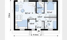 [ 70 Square Meter House Plans Plenty Of Space Houz Buzz ] - Best Free Home Design Idea & Inspiration Custom Home Plans, Custom Homes, Home Design 2017, House Design, Small Attic Bathroom, Costa, Small Attics, Traditional House Plans, Backyard Garden Design