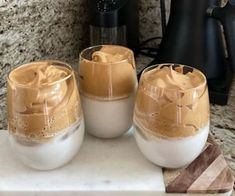 Whipped Coffee is seriously the BEST thing ever! Takes only 5 minutes to make and it's so fluffy and delicious! Also know as Dalgona Coffee. But First Coffee, Coffee Love, Iced Coffee, Coffee Shop, Iced Tea, Coffee Break, Almond Milk Coffee, Coffee Milk, Milk Tea