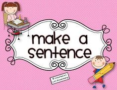Students cut out the words and make as many sentences as they can.  Then, they write them on the recording sheet.  There are two versions.  One for...