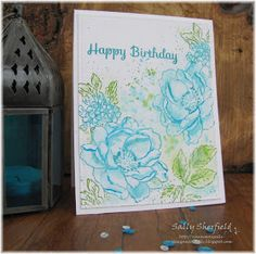 I want to improve my water colouring and found time this weekend to sit in my craft room and practice, I was inspired by this card an...