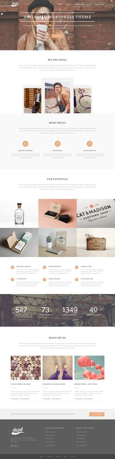 Web design / Hazel - Creative WordPress Theme by sandracz.deviantart.com