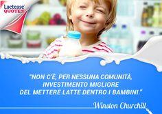 Puntare sui giovani è il consiglio del politico e scrittore inglese Winston #Churchill! E se i bambini sono #intolleranti al #lattosio cosa fare? Semplice, possono usare #LacteaseJunior ;-)  Buon #lunedì a tutti da LacteaseQuotes!