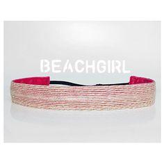 Sunshine and Seagrass ~  Non Slip Adjustable Headband