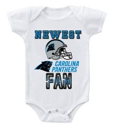 NEW Football Baby Bodysuits Creeper NFL Carolina Panthers  2. Nfl Carolina  PanthersBaby BodysuitBaby OnesieOnesiesFootball BabyBabies ClothesBaby ... 5eb7f6bb5