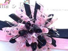 Sailor Girl Nautical Anchor Rope Star Pink Navy by BlossomsnBows, $6.00