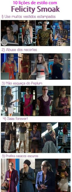 10 lições de estilo com Felicity Smoak #Arrow #Style #Fashion