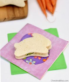 Easter Cucumber Sandwiches - Cherished Bliss