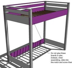 Love this website! Tons and tons of plans to do all sorts of projects around the home. We're going to make this Loft Bed for miss Zoey! I can't wait!!