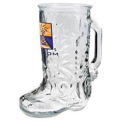 Glass Boot Mug 16oz