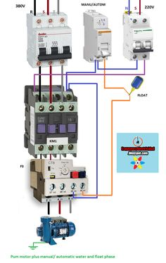 Electrical diagrams: Pum motor plus manual/ automatic water and float p...