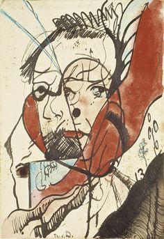 Portrait of a man - Theo van Doesburg