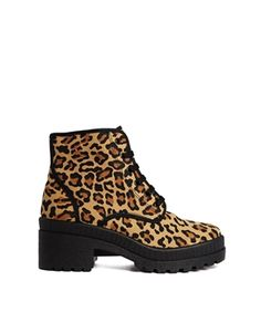 ASOS RADIOHEAD Ankle Boots: Leopard Print, Chunky and simple. I need these - so sad they were sold out :'(