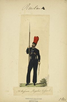 A Russian Regular Cossack (NYPL > The Vinkhuijzen collection of military uniforms > Russia. > Russia, 1807-1812)