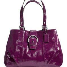 ed3dd1202e12 NWT Coach Soho East West Patent Leather Carryall Tote Shopper Bag Purse  19711