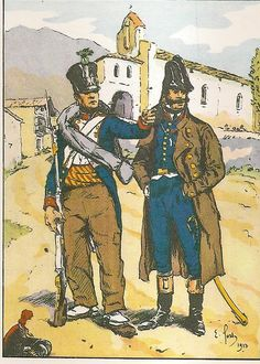 French; 8th Line Infantry, Fusilier & Officer, tenue de Campagne, Spain, 1812