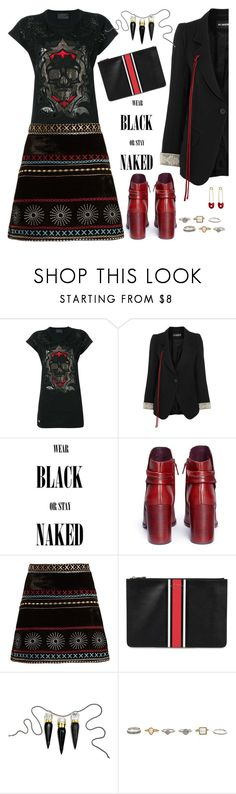 """""""Sheena Is A Punk Rocker"""" by ms-wednesday-addams ❤ liked on Polyvore featuring Philipp Plein, Ann Demeulemeester, Mercedes Castillo, Dodo Bar Or, Givenchy, Christian Louboutin and Kristin Cavallari"""