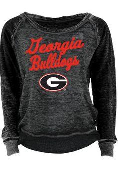 Product: University of Georgia Bulldogs Women's Burnout Crewneck Sweatshirt