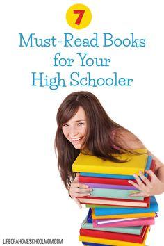 7 Must-Read Books for your High Schooler + Printable Bookmarks | Upside Down Homeschooling | Bloglovin'