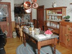 Victorian Kitchen ~ I could so cook here <3 ~ can't believe it's a miniature!