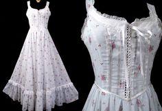 Gunne Sax SUNDRESS Dress 1970's 70's Vintage Lolita