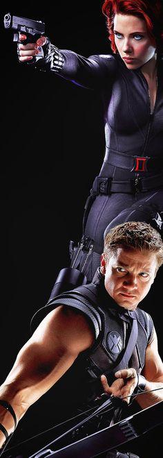 Black Widow & Hawkeye (Scarlett Johansson & Jeremy Renner)