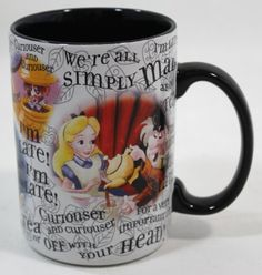 Amazon.com: Disney Parks Alice in Wonderland 'Character' Coffee Mug (1 mug per order) - Disney Parks Exclusive & Limited Availability: Home ...