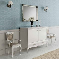 Beautiful, elegant and vintage 'Garbo' dressing table. Very unique piece, perfect for hallway, living room and bedroom. Old school style. My Italian Living.