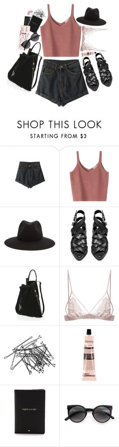 """""""Leave A Trace"""" by everythingwasgolden ❤ liked on Polyvore featuring rag & bone, Acne Studios, Halston Heritage, Fleur of England, H&M, Aesop and Kate Spade"""