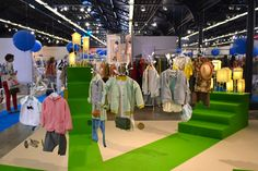 Espace tendance 'Green carpet' par Papier à êtres - Playtime Paris Juillet/July 13 #playtimeparis #tradeshow #fashion #kid