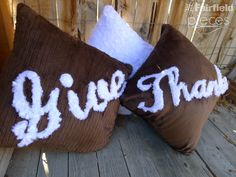 Giving Thanks - #Sewing #Tutorial DIY project- Cuddle Applique Pillows Sewing Tutorial by @PiecesByPolly @fairfieldworld #Thanksgiving #Cuddle See it on My Cuddle Corner http://shannonfabrics.com/blog/2015/11/19/giving-thanks-cuddle-applique-pillows/