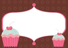 Help Festas e Personalizados: Convites prontos - Cupcake                                                                                                                                                                                 Mais