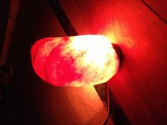 Salt lamp... Gives a warm glow to the room