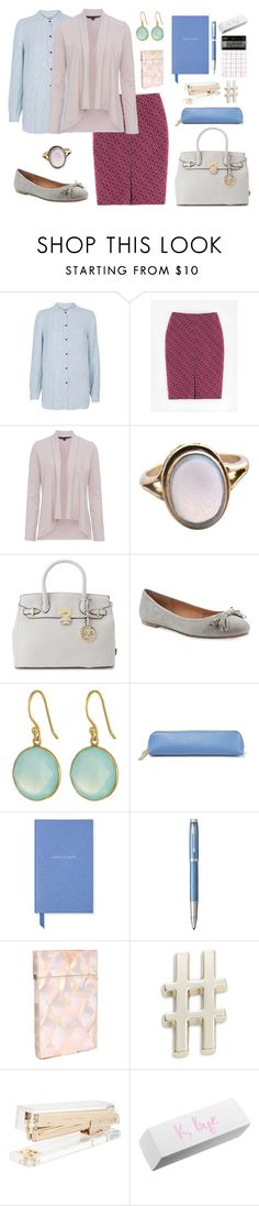 158. Office Classic capsule for Shaded Summer. Day 2 by sollis on Polyvore featuring мода, Custommade, French Connection, Boden, Me Too, Versace 19•69, Dee Berkley, Smythson, Parker and Kate Spade
