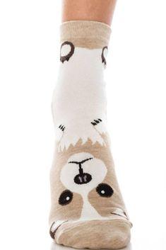 Womens Fuzzy Winter Crew Socks //Animal Socks 5 Pairs Set fits shoe size 7-10 US