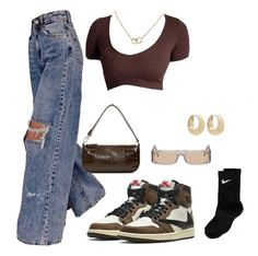 Swag Outfits For Girls, Cute Swag Outfits, Cute Comfy Outfits, Indie Outfits, Teen Fashion Outfits, Edgy Outfits, Retro Outfits, Look Fashion, Girl Outfits