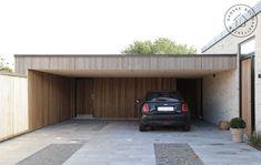 Ny carport til dit hus: Få inspiration her Carport Designs, Garage Design, House Design, Cantilever Carport, Carport Modern, Alpine House, Carport Garage, Porch Doors, Building A Container Home